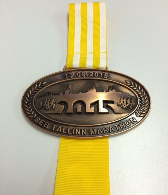 Tallinn marathon 2015 medal