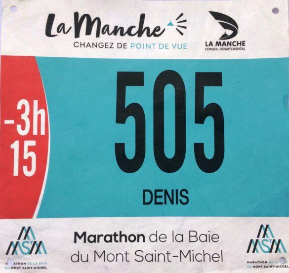 Marathon de la Baie du Mont Saint-Michel 2017 bib