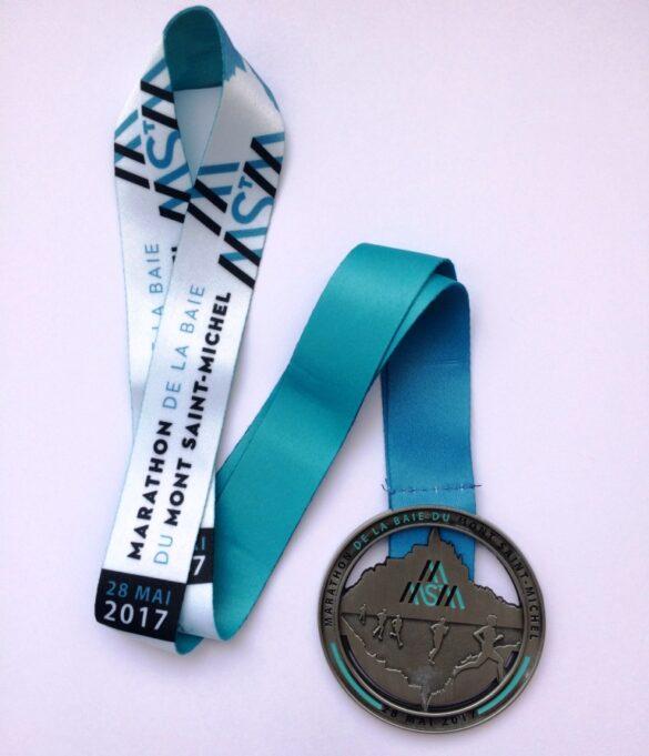 Marathon de la Baie du Mont Saint-Michel 2017 medal