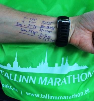 Tallinn Marathon paces