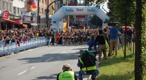 Start of 22 Hamburg Halfmarathon